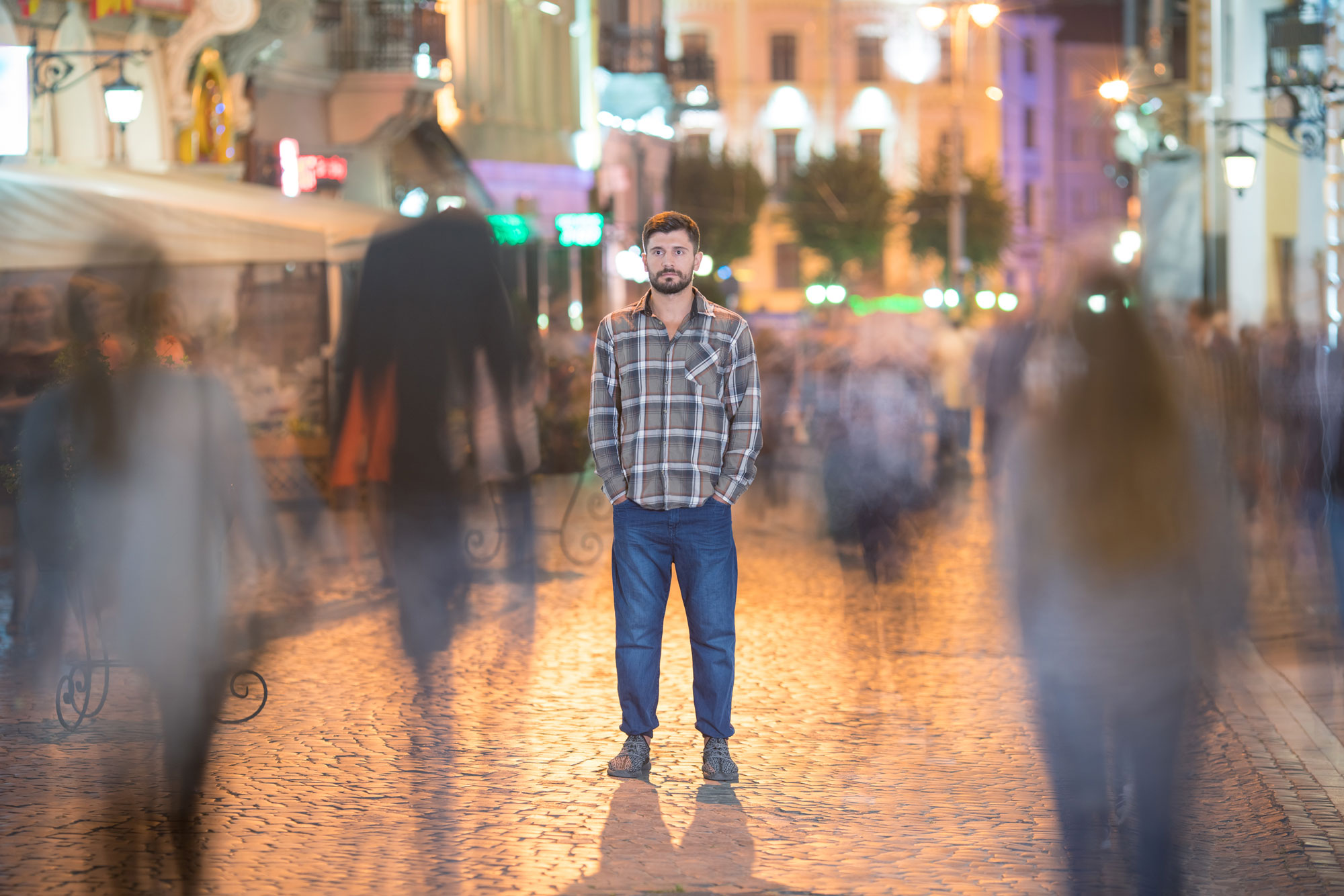 Collaborative Psychology Lonely Man in the City